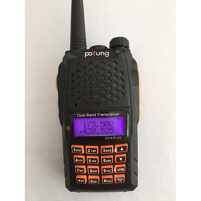 BAOFENG UV-6 PLUS Handheld / Digital Voice Prompt / Dual Band / Dual Display 1.5KM-3KM 1.5KM-3KM 128 1800 mAh 7 W Walkie Talkie Two Way Radio