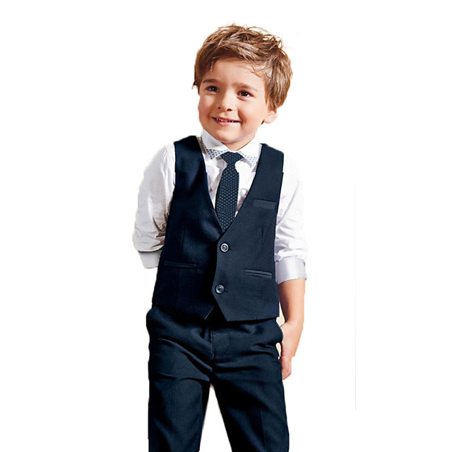 Toddler Boys' Clothing Set Solid Colored Long Sleeve Regular Blue