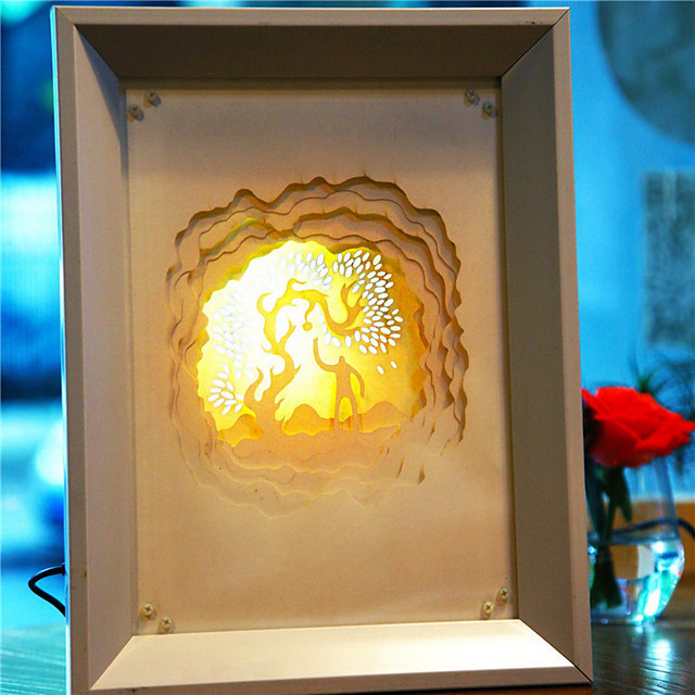 Us Plug Led Creative Paper Carving 3d Decorative Christmas Night Light Fireworks 5068924 2021 59 79