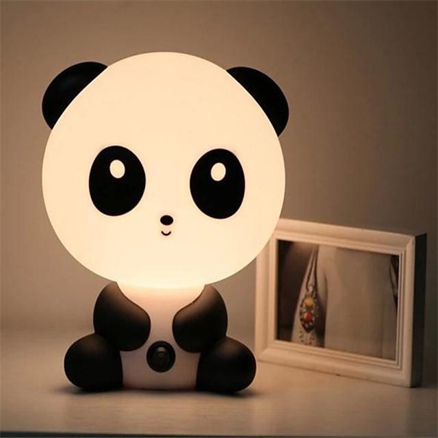 Baby Bedroom Lamps Night Light Cartoon Pets Rabbit Panda Pvc Plastic Sleep Led Kid Lamp Bulb Nightlight For Children