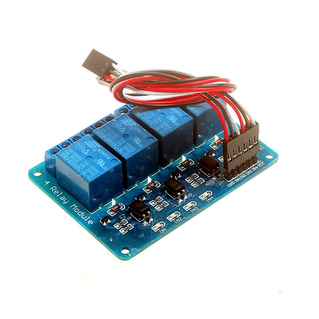 4-channel 5v Relay Module with Optocoupler DSP AVR PIC ARM  For Arduino