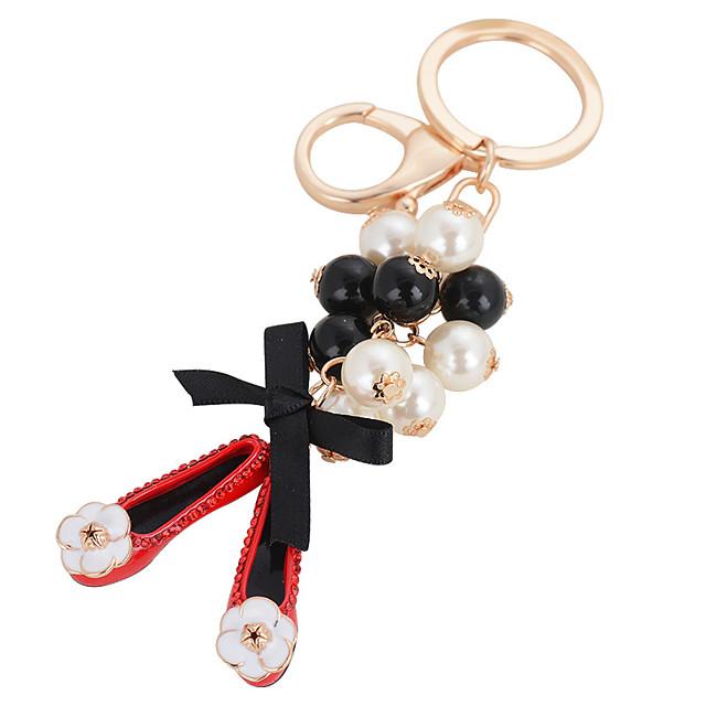 Pearl Shoe Bag Ornaments Car Key Ring Pendant Female Fashion