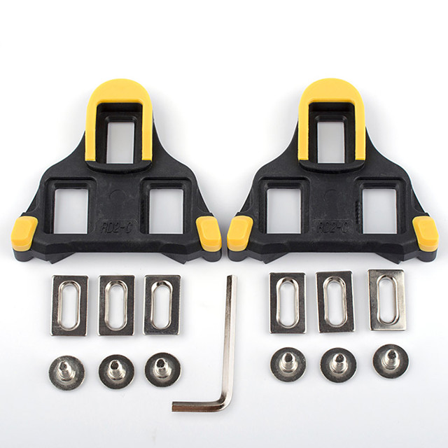 PROMEND Cleat / Cleat Set XPT / SPD 6 Degree Float Non-Skid Compatible With SHIMANO Durable For Road Bike Cycling Bicycle Synthetic Yellow / Black Yellow / Red 2 pcs