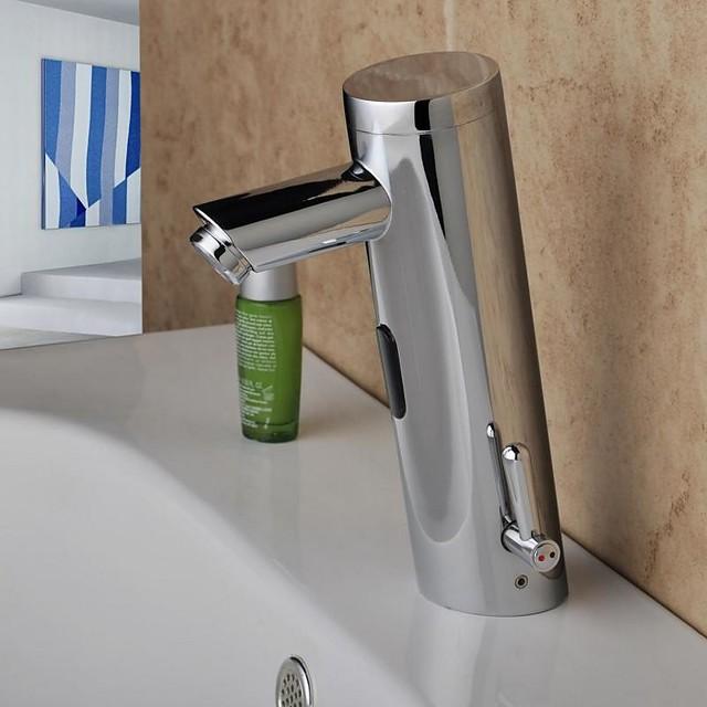 Kupaonica Sudoper pipa - Szenzor Chrome Središnje pozicionirane Hands free jedna rupaBath Taps