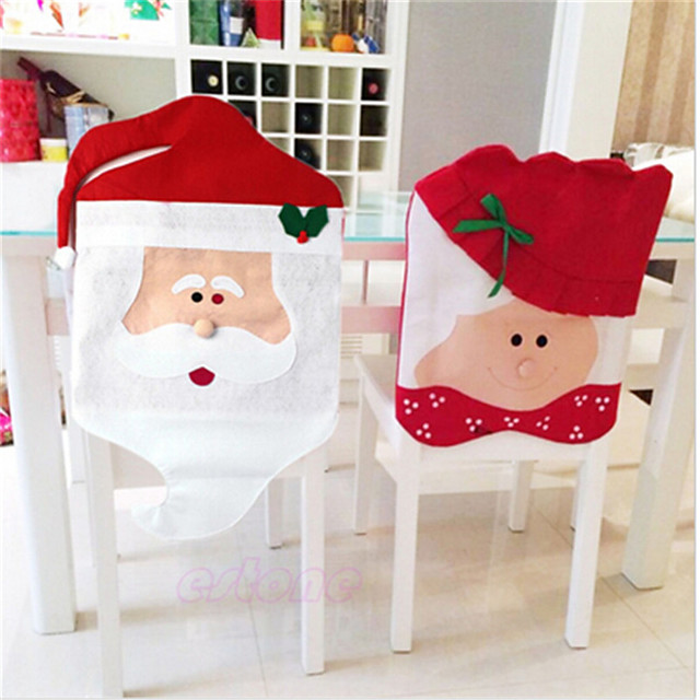 Chair Cover Christmas / Floral / Botanicals / Holiday Textile Christmas / Party / Halloween Christmas Decoration