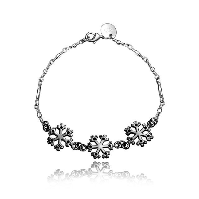 Women's Chain Bracelet Vintage Fashion Sterling Silver Bracelet Jewelry Silver / Black For Wedding Party Daily Casual