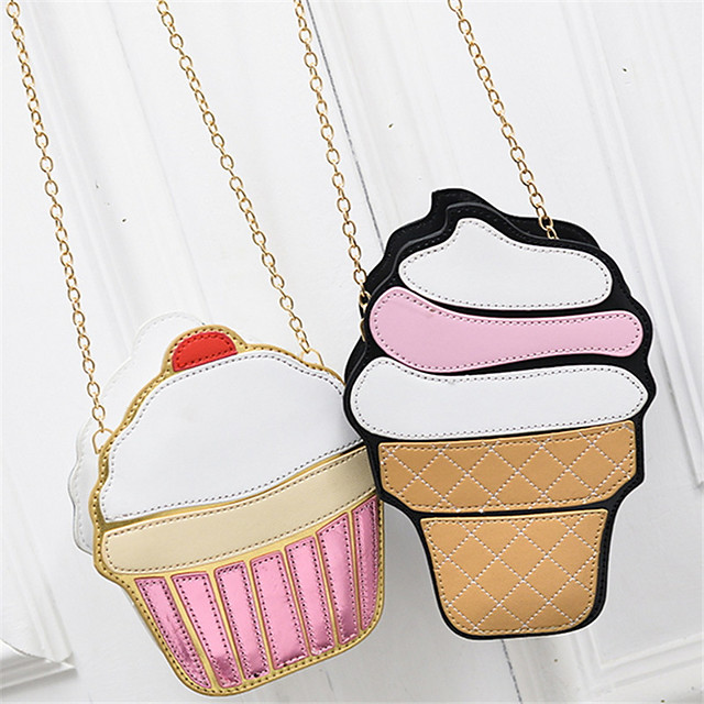 Women's Bags PU(Polyurethane) Shoulder Bag Character Yellow / Pink