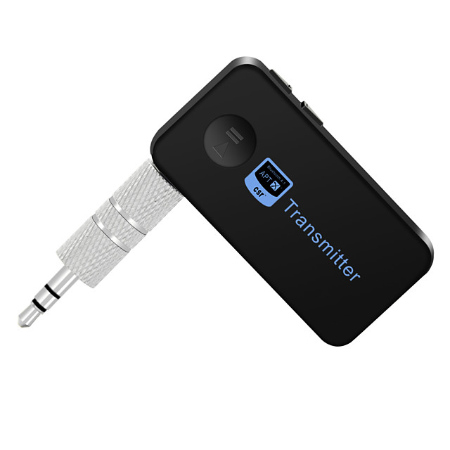 Bluetooth Transmitter Music Audio Stereo with 3.5mm Audio Output Bluetooth Reciever Handsfree Speakers For Car/TV/Computer Music Audio Aux Headphones 8-Hour Battery Life Handsfree Calls Support atpX