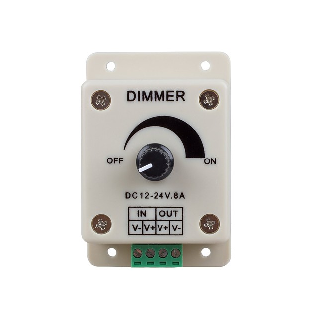 1PC DC12-24V 8Amp 0%-100% Monochrome Dimming Controller for For LED Lights or Ribbon