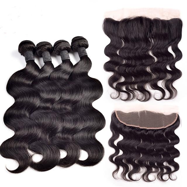 Intialainen Runsaat laineet 350 g Hiukset kude sulkeminen Hiukset kutoo Hiukset Extensions