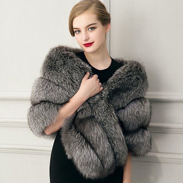 Sleeveless Capelets Faux Fur Wedding / Party Evening / Casual Women's Wrap With Feathers / Fur