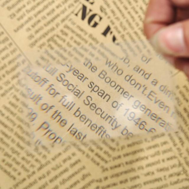 Compact Size 3X Magnifiers / Magnifier Glasses 5 mm Plastic