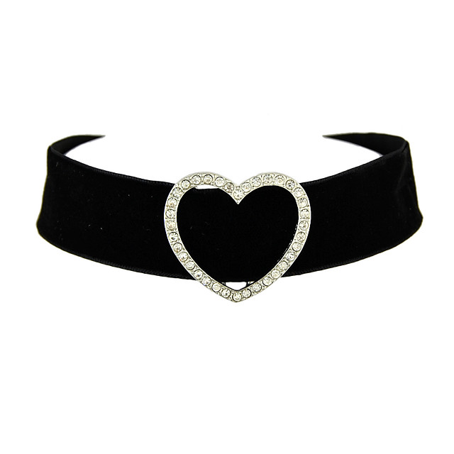 Women's Choker Necklace Tattoo Choker Necklace Heart Ladies Tattoo Style Flannelette Black Necklace Jewelry For Thank You Daily Valentine
