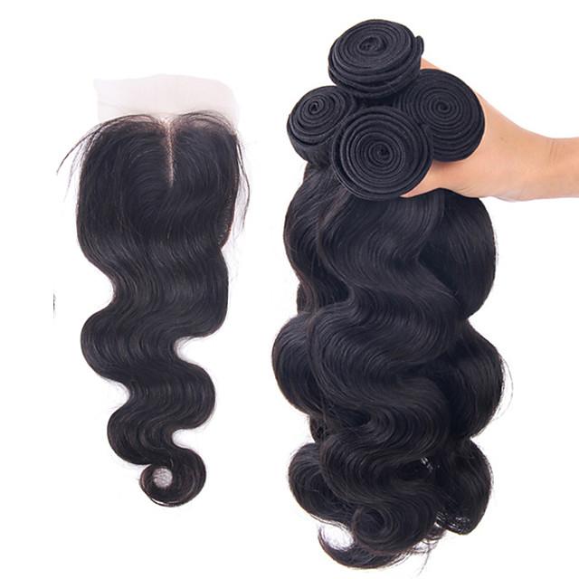 Brazilian Hair Body Wave Human Hair Hair Weft with Closure Human Hair Weaves Human Hair Extensions