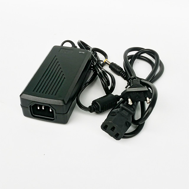 1PC 48W DC24V 2A EU Plug AC / DC Power Adapter for LED Light Strip - Black (100~240V)