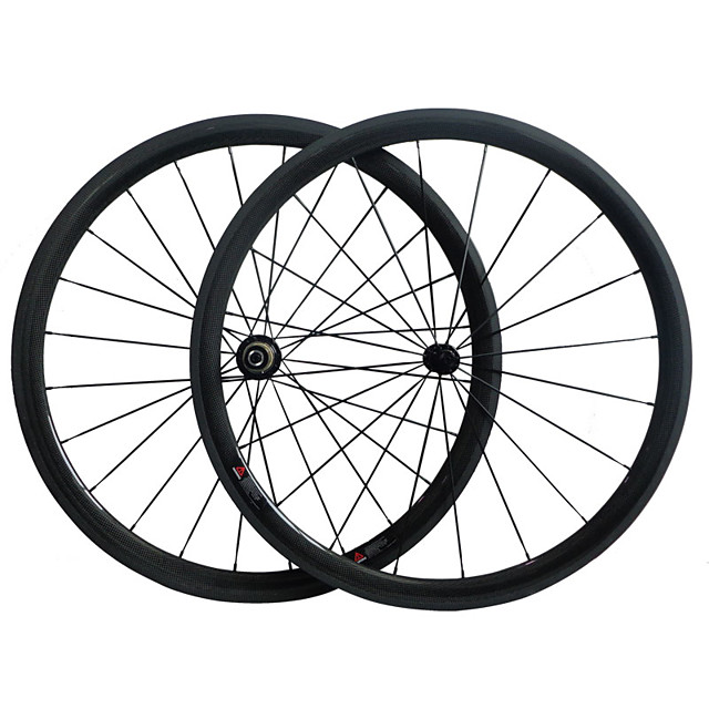700CC Wheelsets Cycling 23 mm Road Bike Carbon / Full Carbon Clincher 16-32# Spokes 38 mm