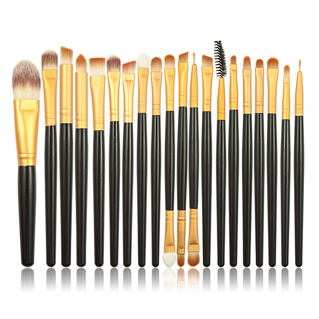 Professional Makeup Brushes Makeup Brush Set 20 Portable Professional Synthetic Hair Wood for