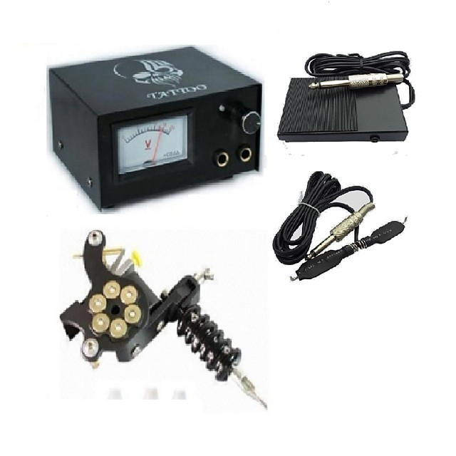 Analog Tattoo Machine Power Supply Digital professional power Clip Cord Foot Switch Power Plug