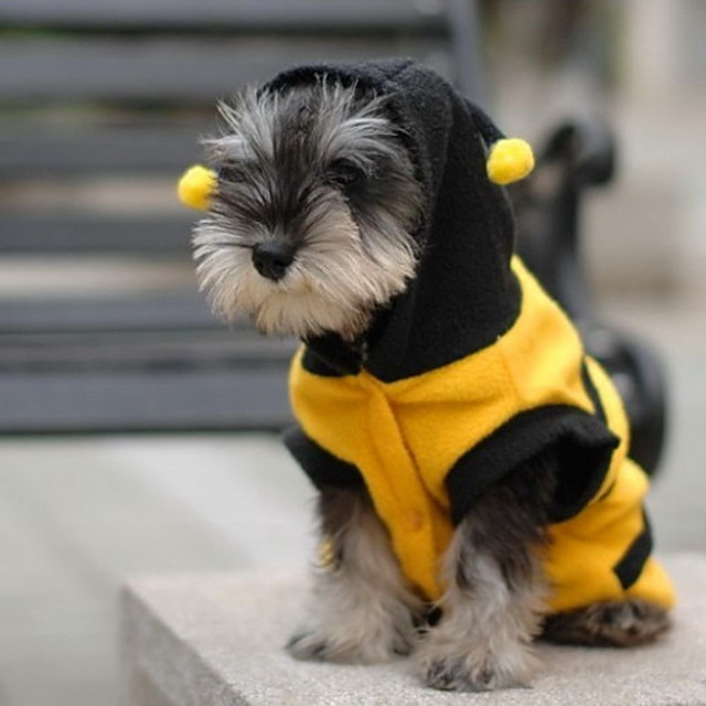 Cat Dog Costume Hoodie Puppy Clothes Animal Cosplay Dog Clothes Puppy Clothes Dog Outfits Yellow Costume for Girl and Boy Dog Cotton XXS XS S M L XL