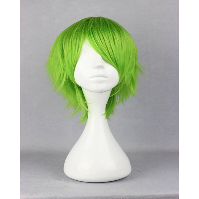 Synthetic Wig Cosplay Wig Curly Curly Wig Short Green Synthetic Hair Women's Green hairjoy