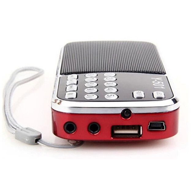 Y-501 AM/FM Bass Cannon Stereo Radio Red Portable Radio