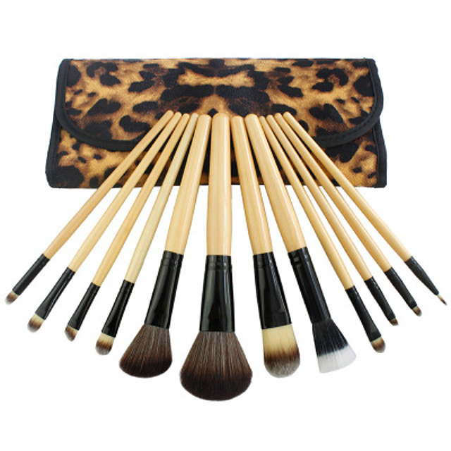 Professional Makeup Brushes Makeup Brush Set 12 Portable Professional Wood for