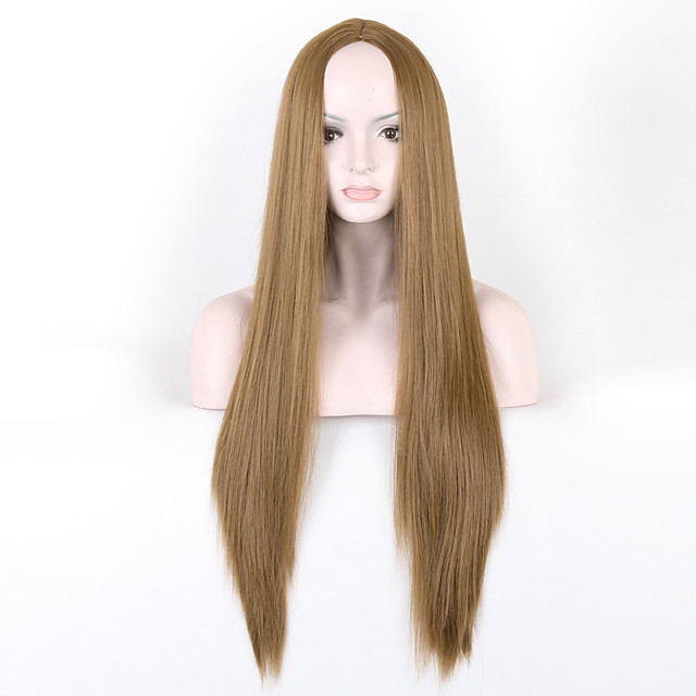 Synthetic Wig Straight Straight Wig Long Brown Synthetic Hair Brown