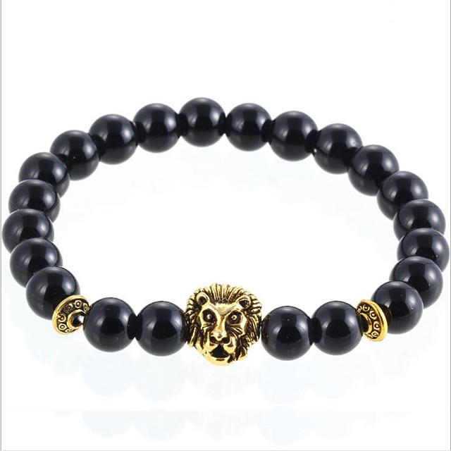 Men's Women's Agate Bead Bracelet Agate Bracelet Jewelry Silver / Golden For Daily Casual