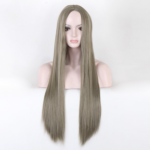 Synthetic Wig Straight Straight Wig Long Green Synthetic Hair Green