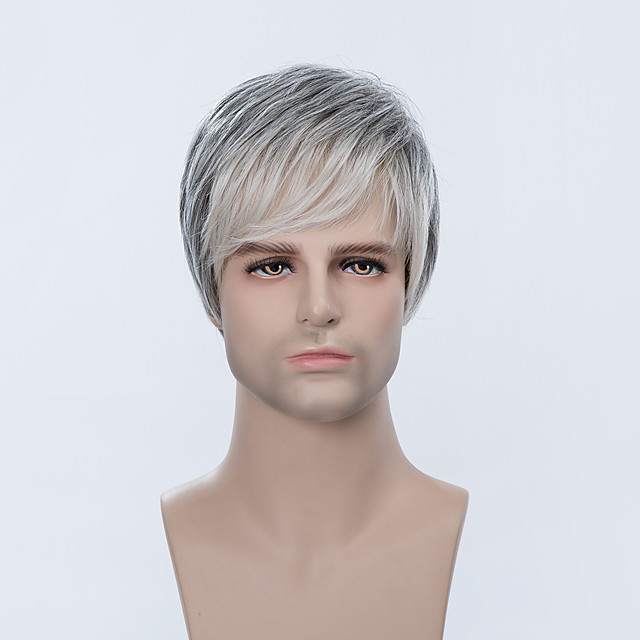 Human Hair Capless Wigs Human Hair Straight Short Hairstyles 2019 With Bangs Side Part Ombre Short Wig Men S 5443744 2020 41 59