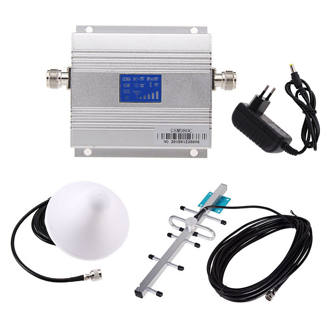 LCD GSM 900MHz Cell Phone Repeater WiFi Repeater Wifi Extender + Yagi Antenna Kit UL 890-915Mhz DL 935-960Mhz
