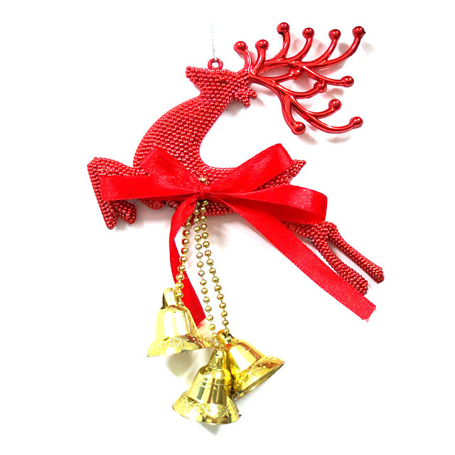 Christmas Decorations Christmas Party Supplies Christmas Tree Ornaments Elk Plastic Adults' Toy Gift 3 pcs