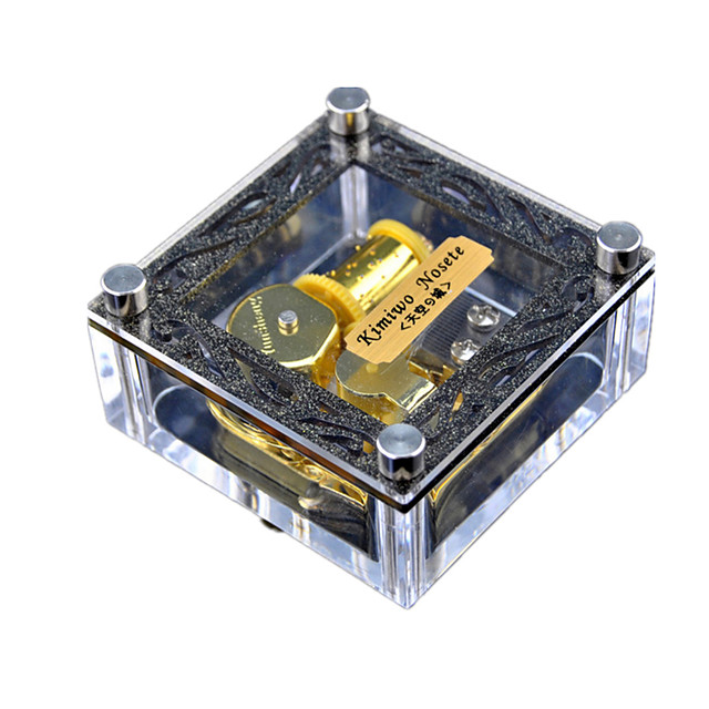 Music Box Wind-up Toy Sweet Special Creative Sound Novelty Unique Crystal Plastic Women's Boys' Girls' Kid's Adults Kids Adults' Graduation Gifts Toy Gift