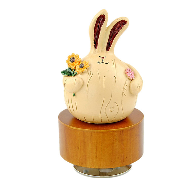 Music Box Sweet Special Rabbit Creative Sound Novelty Unique Wood Rubber Women's Boys' Girls' Kid's Adults Graduation Gifts Toy Gift / 14 Years & Up