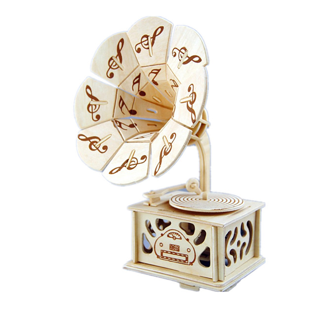 Music Box Sweet Special Phonograph Creative Sound Novelty DIY Unique Wooden Women's Boys' Girls' Kid's Adults Kids Adults' Graduation Gifts Toy Gift