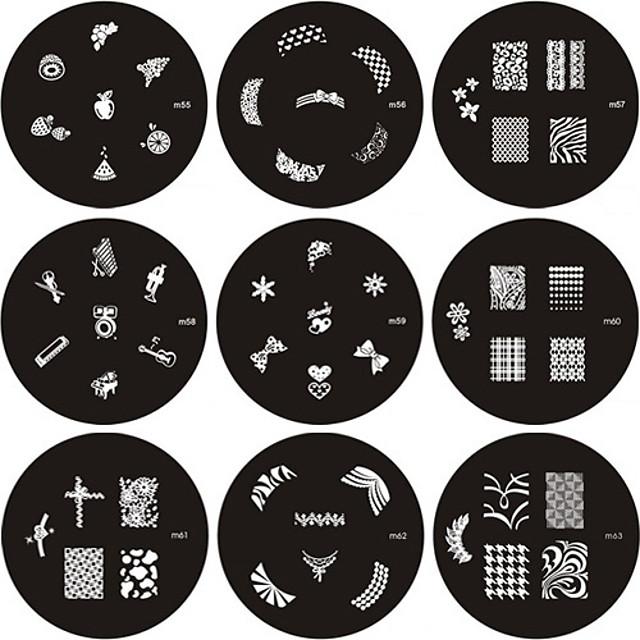 arte de uñas Placa de estampado Clásico Alta calidad Diario