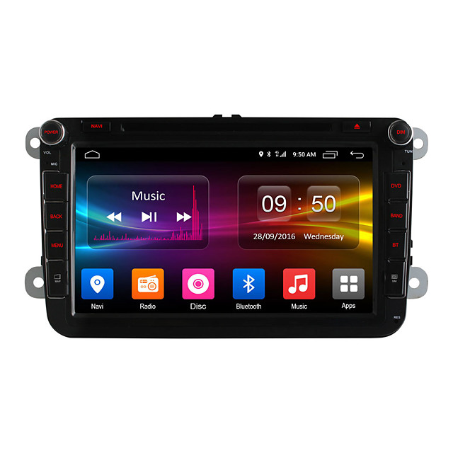 DGS8992G 8 inch 2 DIN Android6.0 DAB for Volkswagen / Skoda / Seat Support / MPEG4 / CD / Mp3 / JPEG / Mp4