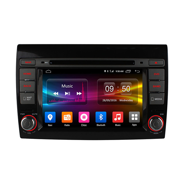 Ownice DGS7926F 7 inch 2 DIN Android6.0 In-Dash Car DVD Player DAB for Fiat Support / MPEG4 / CD / VCD / Mp3 / WMA
