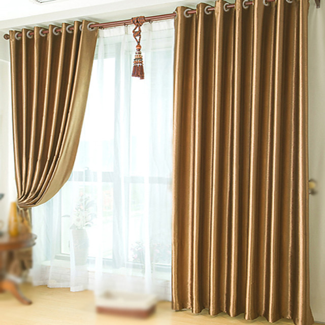 Custom Made Blackout Blackout Curtains Drapes Two Panels Embossed / Bedroom