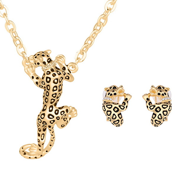 Women's Jewelry Set Rings Set Animal Ladies Earrings Jewelry Gold / Silver For Wedding Party Daily Casual / Necklace