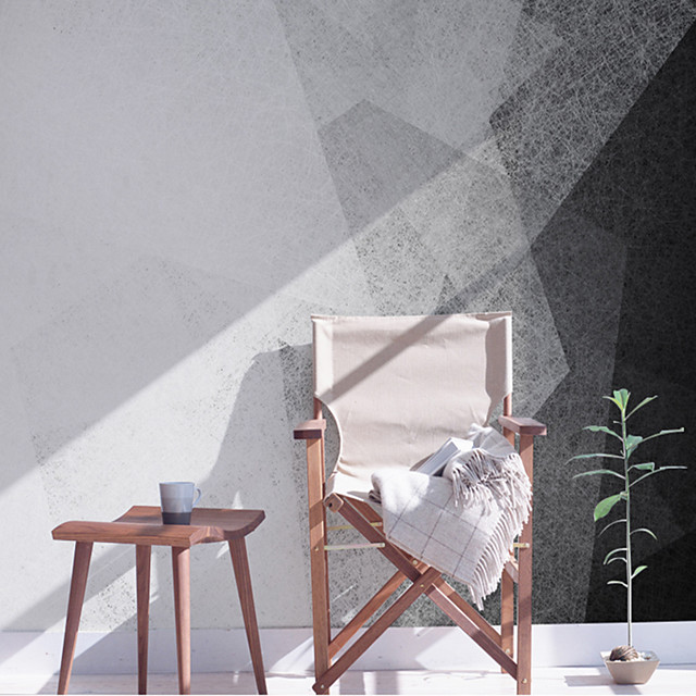 Custom 3D Stereo Wallpaper Mural Background Abstract Painting Black and White Minimalist Painting Wall Room Living Room Bedroom TV Background Wall Covering 448×280cm