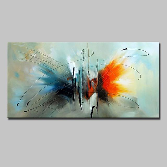 لوحة زيتية مرسومة يدويًا فن جداري تجريدي لتزيين المنزل الحديث ديكور إطار ممتد جاهز للتعليق 60 * 90 سنتيمتر