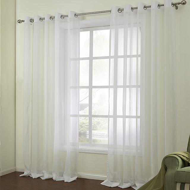 Custom Made Sheer Sheer Curtains Shades Two Panels  / Jacquard / Bedroom
