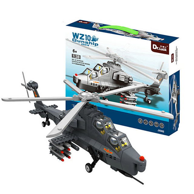 WAN GE Building Blocks Model Building Kit Construction Set Toys Educational Toy Building Bricks 1 pcs Helicopter Professional Level Creative Cool Building Toys Boys' Girls' Toy Gift / Kid's