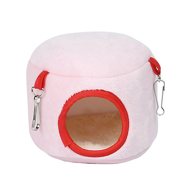 Rodents Mouse Hamster Bed Beds Portable Cotton Blue Pink