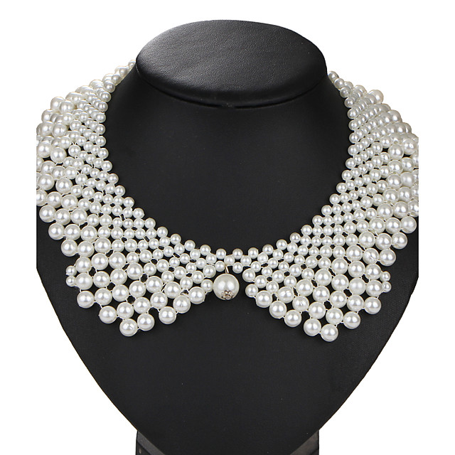 Pearl Collar Necklace Ladies Vintage Euramerican Pearl Imitation Pearl Alloy White Necklace Jewelry 1pc For Wedding Party Birthday Daily Masquerade Engagement Party