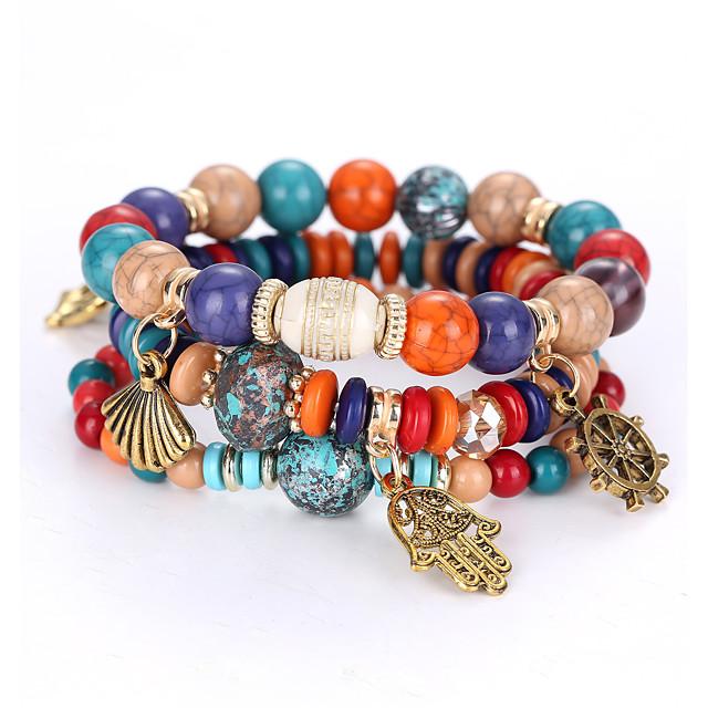 Inspirational Bracelet Blessed Bracelet Multi-Color Stripe Agate Bracelet Gift for Best Friends Birthday Bead Bracelet for Women