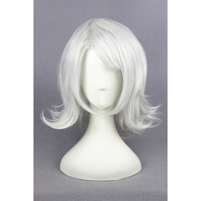 Synthetic Wig Straight Straight Wig Short Silver Synthetic Hair Gray