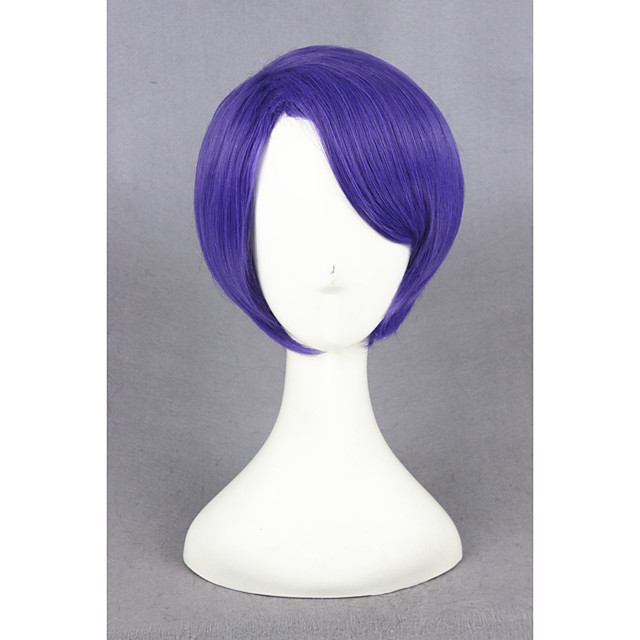 Synthetic Wig Straight Straight Wig Short Pink Blue Synthetic Hair Blue