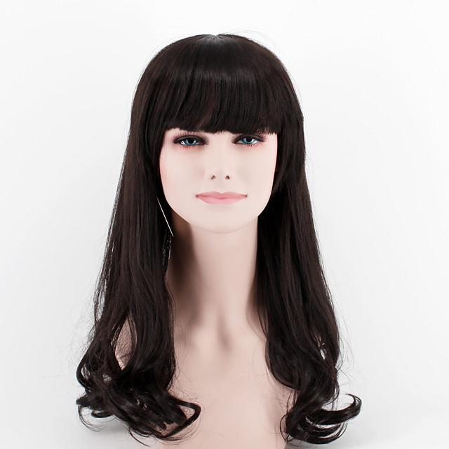 Synthetic Wig Wavy Wavy Wig Long Black#1B Synthetic Hair
